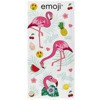 Emoji Flamingos Towel