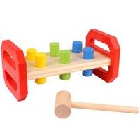 Tooky Toys Wooden Pound Bench