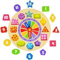 Tooky Toys Wooden Clock Puzzle