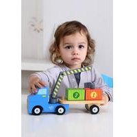Tooky Toys Wooden Container Truck Set