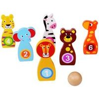 Tooky Toys Wooden Bowling Game Set