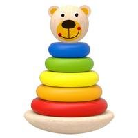 Tooky Toys Wooden Bear Tower