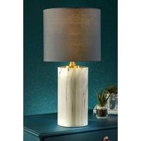Large Faux Marble Table Lamp