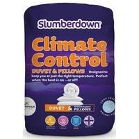 Slumberdown Climate Control 4.5 Tog Duvet and 2 Pillows