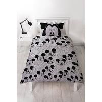 Mickey Mouse Silhouette Single Panel Duvet Set
