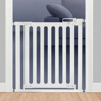 Fred Pressure Fit Wooden Stairgate White with White