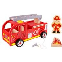Tooky Toys Wooden Fire Truck