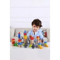 Tooky Toys Wooden Knight Castle Set
