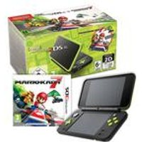 Nintendo 2DS XL Black and Lime Green+ Mario Kart 7