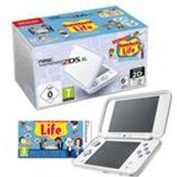 Nintendo 2DS XL White and Lavender + Tomodachi Life