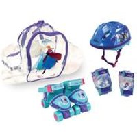 Disney Frozen Quad Skates with Protection Set and carry Bag