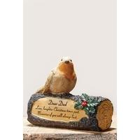 Robin on a Log - Dad