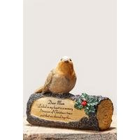 Robin on a Log - Mum