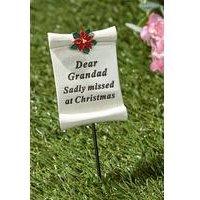 Poinsettia Memorial Stick Grandad
