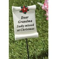 Poinsettia Memorial Stick Grandma