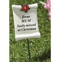 Poinsettia Memorial Stick Mum