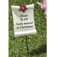 Poinsettia Memorial Stick Dad