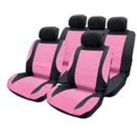 Pink Leather Look Seat Cover Set