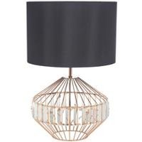 Kristal Copper and Glass Table Lamp