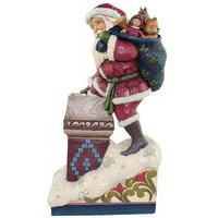 Heartwood Creek Santa Making Magic Ornament