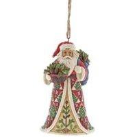 Heartwood Creek Pinecone Santa Hanging Ornament