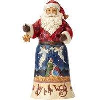 Heartwood Creek Joy To The World Santa Ornament
