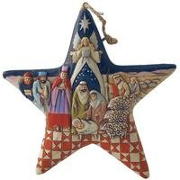 Heartwood Creek Nativity Star Hanging Ornament