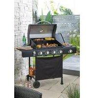 4 Burner Plus Side Burner Gas BBQ