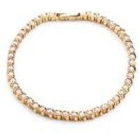 18ct Gold Plated 2 Micron Cz Tennis Bracelet