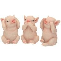 Three Wise Pigs Figurines