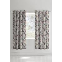 Painted Floral Plum Curtains