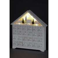 LED Village Wooden Advent Calendar