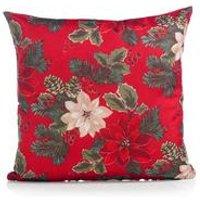 Red Poinsettia Cushion Cover