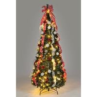 6ft Pre-Lit Pop Up Decorated Christmas Tree