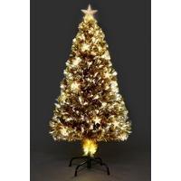 6ft Champagne Star Fibre-Optic Christmas Tree