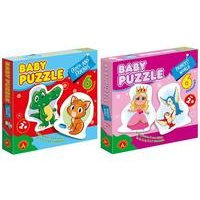 Twin Pack Baby Puzzle Princess World and Croco and Friends