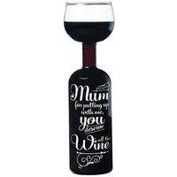 Wine Bottle Glass - Wine for Mum