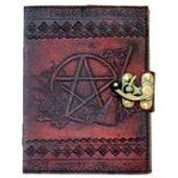 Pentagram Leather Embossed Journal & Lock
