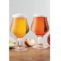 Final Touch Hard Cider Glasses 2 Pack