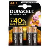 Duracell 4 Pack AA Power Plus Batteries