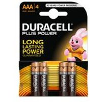 Duracell 4 Pack AAA Power Plus Batteries