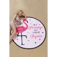Novelty Flamingo Beach Towel