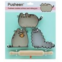 Pusheen Cookie Cutters and Rolling Pin - Gift Set
