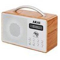 Akai DAB Radio Wood/Chrome