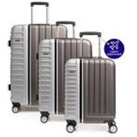 Duet 8 Wheel ABS Durable Suitcase Set with Integrated TSA Lock