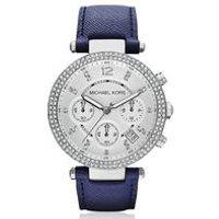 Michael Kors Ladies Silver Parker Watch