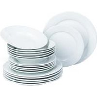 18-Piece Chunky White Porcelain Dinner Set