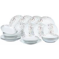 24-Piece Gold Star Porcelain Dinner Set