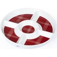 Highland Tartan Round Chip and Dip Bowl