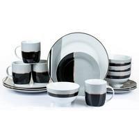 16-Piece Gold Band Porcelain Dinner Set